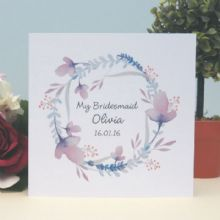 Personalised Bridesmaid Thank You Keepsake Card